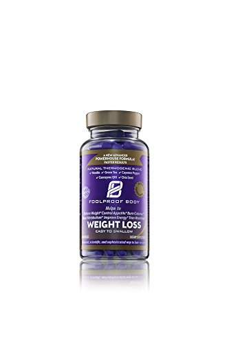 FOOLPROOF BODY Weight Loss - Reduce Weight, Control Appetite, Burn Calories & Boost Metabolism (60 Capsules) ()