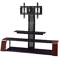 Sandberg Furniture Aria TV Stand with Swivel Mount, Merlot/Black
