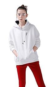 Hello-cos Womens Halloween White Hoodie Coat