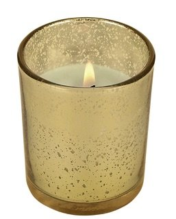 Alluring 10 hour Mercury Glass pre-filled votive set of 75 (Gold) by D'light Online
