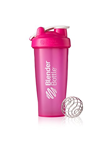 BlenderBottle Classic Loop Top Shaker Bottle, Pink/Pink, 28-Ounce Loop Top