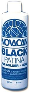 Novacan Black Patina for Solder