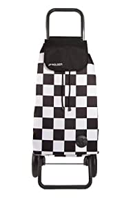 Rolser Einkaufsroller Logic Rg/f3 - Maleta, color blanco, negro, talla 39.5 x 32.5 x 106 cm