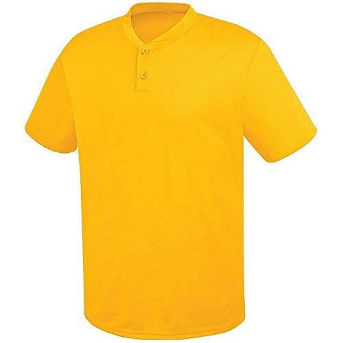 HighFive Adult Two-Button Essortex Jersey Athletic Gold ()