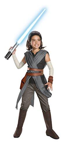 Rubie's Star Wars Episode VIII: The Last Jedi, Child's Super Deluxe Rey Costume, Small ()