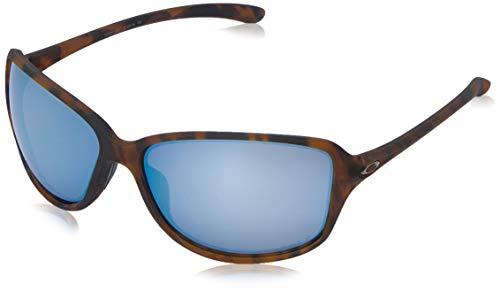 Oakley Tortoise Lens - Oakley Women's OO9301 Cohort Rectangular Sunglasses, Matte Brown Tortoise/Prizm Deep H2O Polarized, 62 mm
