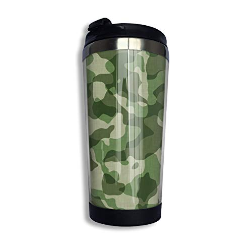 Lid thermal Grade Cup With Steel 400ml Stainless Camouflage Pattern Food Thermos Insulated Coffee Mug Military Travel bgfyv6Y7