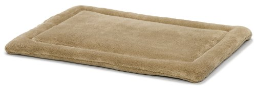 MidWest Homes for Pets Deluxe Micro Terry Pet Bed, Dog Bed & Crate Mat, Taupe (Plush Crate Mat)
