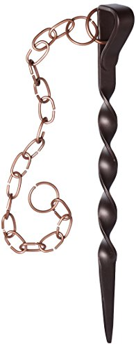 Monarch Rain Chains Powder Coated Iron Rain Chain Anchoring Stake, Brown/Copper by Monarch Rain Chains