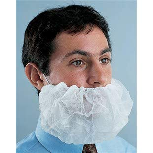 Disposable Beard Covers White 100/Bag by Disposable