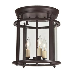 Gold Hill Flush Fixture (Murray Hill 3 Light Medium Bent Flush Mount)