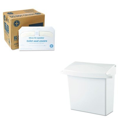 KITHOSHG5000CTRCP614000 - Value Kit - Rubbermaid Sanitary Napkin Receptacle with Rigid Liner (RCP614000) and Health Gards Toilet Seat Covers (HOSHG5000CT)