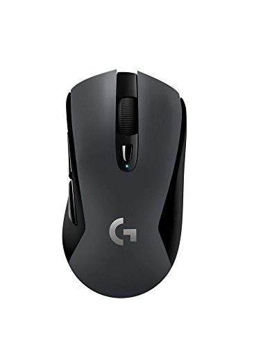 https//images-na ssl-images-amazon com/images/I/31nDty6KWqL jpg,Logitech G603 LIGHTSPEED Raton Gaming Inalambrico, Bluetooth o 2 4 GHz con Receptor USB, Sensor HERO, 12000 DPI, 6 Botones Programables, Memoria Integrada, PC/Mac, Negro