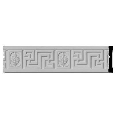 Ekena Millwork CHA04X00NS 4 1/4-Inch H x 5/8-Inch P x 96-Inch L Nestor Greek Key Chair Rail