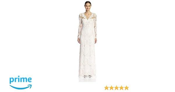 38e9a569 Amazon.com: Marchesa Notte Women's Lace Sheath Gown, White, 6: Clothing