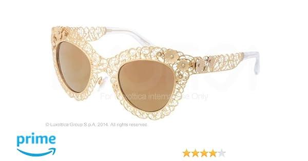 Amazon.com  Dolce   Gabbana DG2134 Sunglasses-02 F9 Antique Gold (Brown  Mirror Gold)-47mm  Clothing 4b454f04b2