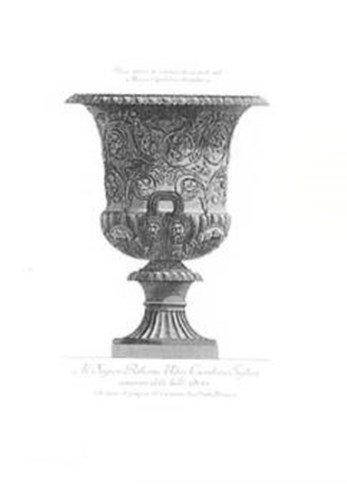 Poster Palooza Classical URNS & VASES HC by Giovanni Battista Piranesi - 20.5x30.5 Inches - HANDCOLORED