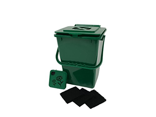 (Exaco Trading Co. ECO-2000 Plus Kitchen Compost Waste Collector, 2.4 Gallon, Deluxe Green)