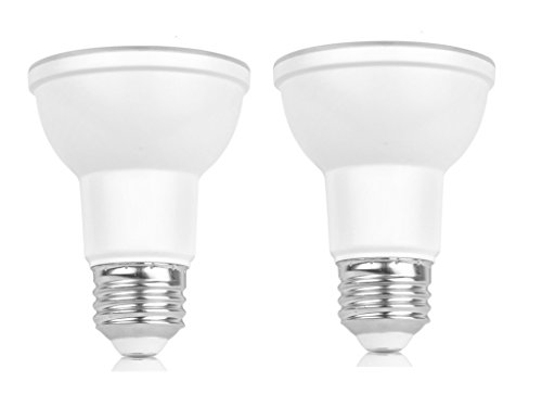 2-Pack PAR20 LED Bulb,7W(50W Equivalent),5000K(Daylight Glow),Dimmable,550LM,40° Beam Angle Narrow Flood Light Bulb,Medium Base (E26),UL-listed and Energy Star Approved