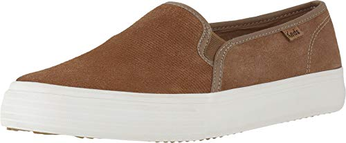 (Keds Women's Double Decker Suede Sneaker, Brown, 9.5 M US )