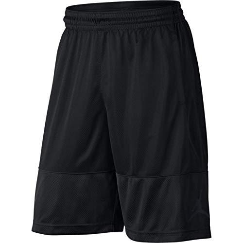 - Jordan New Nike DRI-FIT AIR Black Rise MESH Athletic Basketball Shorts Size M