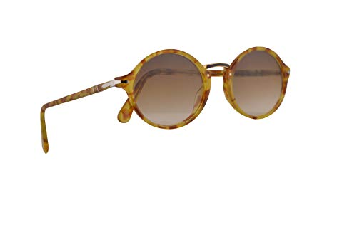 Persol PO3208S Typewriter Evolution Sunglasses Tortoise Yellow w/Clear Gradient Brown 53mm Lens 106151 PO 3208S PO 3208-S ()