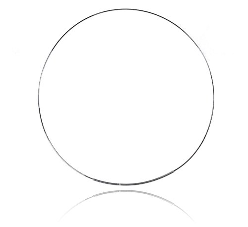 Sterling Silver 0.9mm Eight-Sided Snake Neck Wire 16 Inch