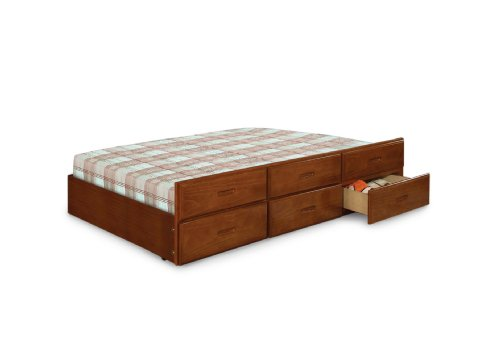 Furniture of America Trundle with 3-Drawers, Twin, Oak