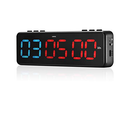 TELAM Mini Fitness Training Timer LED, interval fitness timer met APP Bluetooth Controle voor HIIT Crossfit, Tabata…