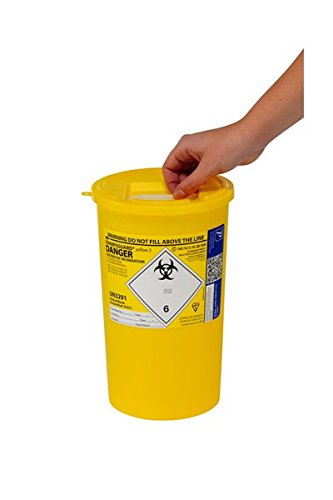 Large Sharps Bin 5 Litre Yellow Lid by HealthCentre