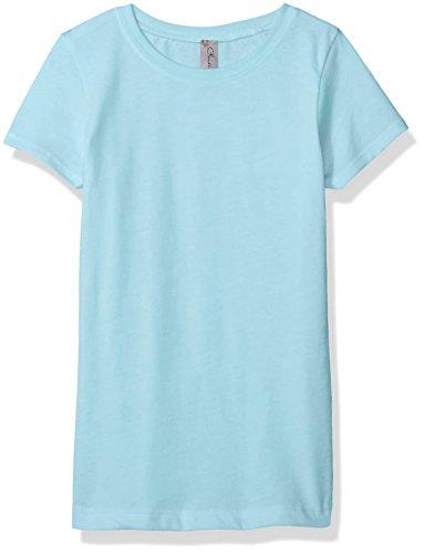 Cancun Light - Clementine Apparel Girls' Little Everyday T-Shirt, Cancun Blue, S