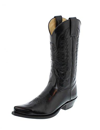 Sendra Boots Stiefel 2073 Negro Cowboystiefel Westernstiefel