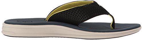 Rover Men Soft Cushion Athletic Navy Flip Yellow Waterproof Flops Sandals Reef Mens Sports Footbed 0qEwaS