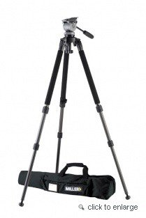 Miller DS-10 Solo DV Alloy System, DS-10 Fluid Head, with Solo 1630 DV 2-Stage Alloy Tripod, and Soft Case, Supports 11 Lbs. by Miller