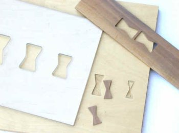 Butterfly template + Brass router inlay kit from Whitside Router ...