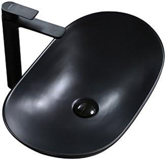 シンプルな超薄型ブラックオーバルセラミックの上カウンター盆地洗面シンクセラミック60CM洗面芸術盆地 P3/19
