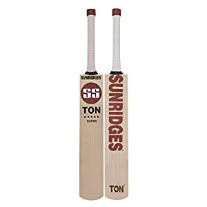 SS EW BAT RETRO SUPER Grade 3 English Willow Cricket Bat ( Size: Short Handle,Leather Ball )