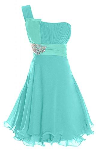 Sunvary chiffon breve un-spalla chiffon Prom Dress vestito Homecoming cocktail vestito