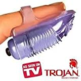 Bundle Package Of Trojan Vibrating Ultra Touch Finger Vibe And a Bottle of 1.7 -oz Personal Silicone Lubricant