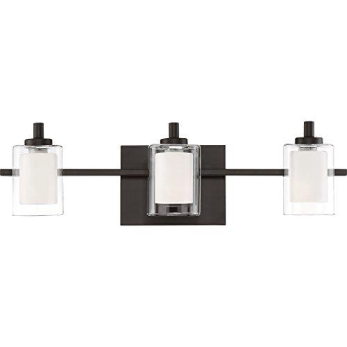 Quoizel KLT8603WTLED Kolt Modern Vanity Bath Lighting, 3-Light, LED 13.5 Watts, Western Bronze (6