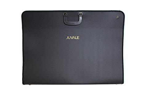 Juvale Art Portfolio Case Handles - Artist Portfolios Case - Drawing Painting Sketch Bag Zipper Pocket Students Artists - Black