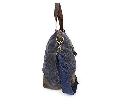 aceite de bolsa con hombro Bolsa Unisex cera hombres Bags Ying loco mano caballo de mensajero de Lona de impermeable los Bolso Blue de de de Z8qTU