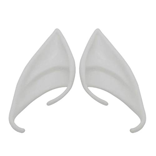 KUKALE Party Props 1 Pair Latex Elf Ears Cosplay Mask Halloween Christmas Masquerade Atificial Supplies]()