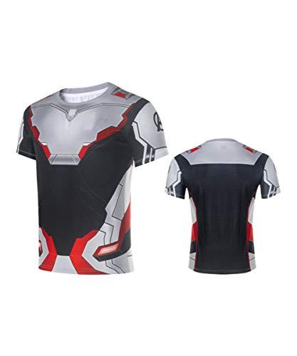 (Super Hero Costume Compression T-Shirt Tight Cycling Clothes Sport T-Shirt (XL, Endgame)
