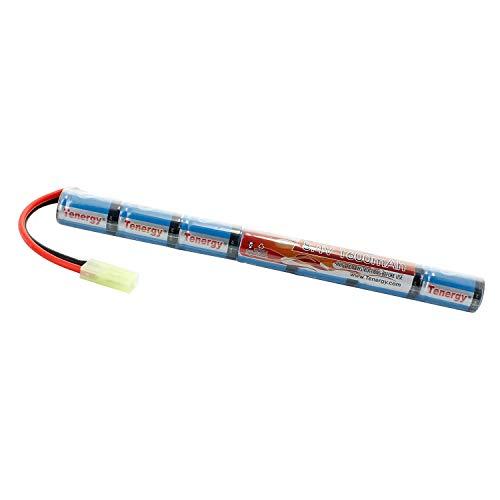 Tenergy 8.4V NiMH Airsoft Battery 1600mAh Stick Paquete de batería con mini conector Tamiya para AK47, MP5K, RPK, PKM (cargador opcional)