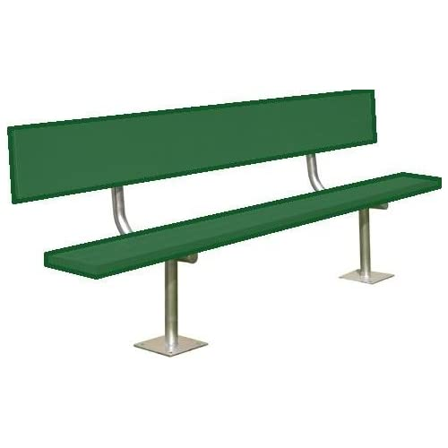 Image of 15' Surface Mount Bench w/back (colored) (EA) Fan Shop