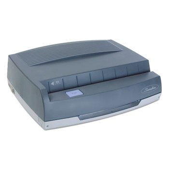 "Swingline 50-Sheet 350md Electric Three-Hole Punch, 9/32"""" Holes, Gray image"