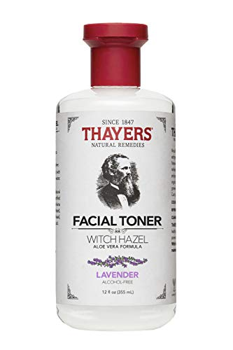 Thayers Alcohol Free Natural Facial Witch Hazel Toner with Aloe Vera, Lavender, 12 Oz