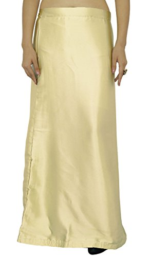 (ibaexports Ready-Made Inskirt Lining For Sari Indian Satin Silk Petticoat Gift For Women)