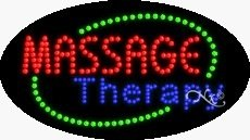 Massage Therapy Flashing & Animated LED Sign (High Impact, Energy Efficient) by ArterNeon (Image #2)